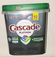 Cascade Platinum Dishwasher Detergent 92 Fresh Scent ActionPacs #1 Brand 3.20LB