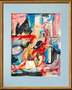 Afro (1912 - 1976) New York, California Listed Artist Abstract Mixed Media