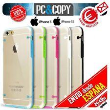 Funda hibrida policarbonato marco TPU colores iphone 5 5S o Templado/Toallitas