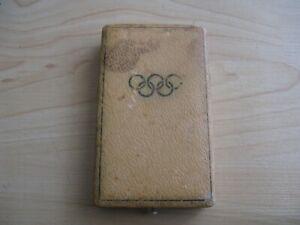 WWII German 1936 Berlin Olympic Games Medal Original Presentation Case-No Medal