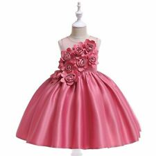 Girls Party Dress Sleeveless Summer Princess Formal Wedding Elegant Ball Gown
