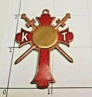 Knights Templar Medal Award Cross Pendant K T Masonic Freemason Fraternal Merit