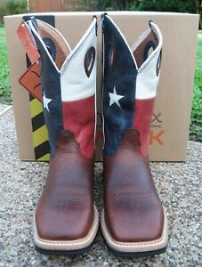 NEW Mens TWISTED X Red White Blue Patriotic Square Soft Toe Western Cowboy Boots