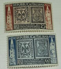 Italy Stamp 602-3 MNH Stamp on Stamp Topical Cat $9.50