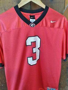 University of Georgia Bulldogs Nike #3 Red Football Jersey Youth Large (16/18)