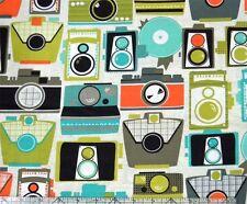 Michael Miller Retro Cameras Fabric