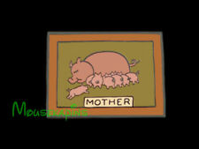 Three Little Pigs WALL PICTURE of MOTHER PIG with Piglets Disney 2003 LE Pin