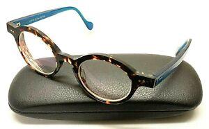 ANNE ET VALENTIN CALLOWAY 1551 Blue Brown Tortoise Eyeglasses Frames FRANCE
