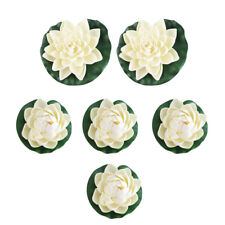 6pcs Artificial Fake Lotus Water lily Floating Flower Garden Pool Plant Ornament