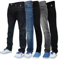 Mens Slim Fit Jeans Stretch Straight Leg Denim Multi Styles Trouser Casual Pants