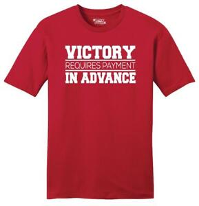 Mens Victory Requires Payment In Advance Soft Tee Motivational Sports Athlete