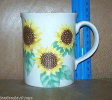 "Otagiri Mug Cup Yellow Sunflower Japan Coffee Vintage 3.75"""