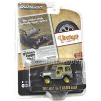 GREENLIGHT 39030 E VINTAGE AD CARS 1977 JEEP CJ-5 GOLDEN EAGLE 1/64 Chase