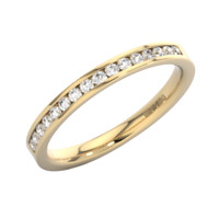 0.30Ct Channel Set Round Brilliant Cut Diamond Eternity Ring in 18K Yellow Gold