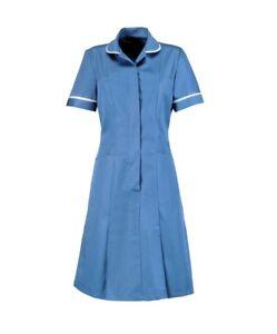 NURSES DRESS TUNIC HEALTHCARE UNIFORM NHS HOSPITAL DRESSES VARIOUS COLOURS INS39