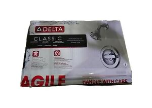 Delta Classic Single-Handle 5-Spray Shower Faucet in Chrome Valve Included