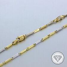 Wert 750,- feine Bicolor Damenkette in 750 / 18 Karat Gelb Weißgold Italy