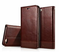 Luxury Leather Wallet Case Magnetic Flip Cover Stand iPhone X 8/7/6 Plus Galaxy