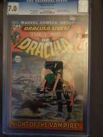 Tomb of Dracula #1 - CGC 7.0- OW/W 1st app of Dracula