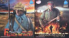 1/6 Dual Pack N°112  Figurines DID WW1 F11007 + DID WW1 D11006