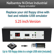 """USB Floppy Disk Drive Emulator N-Drive Industrial for HP 4145A (5.25"""" drive)"""