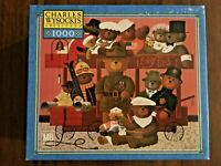 NEW Charles Wysocki 1000 Piece Puzzle Teddy Express Bear Made in USA Americana