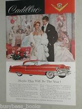 1955 Cadillac advertisement, CADILLAC Coupe De Ville, ballgown party