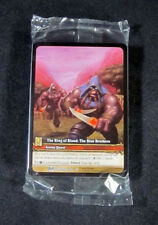 (25) World of Warcraft WoW TCG The Ring of Blood: The Blue Brothers Extended Art
