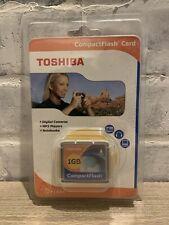 Toshiba 1GB Compact Flash Memory Card (CF-1GTR) (B1)