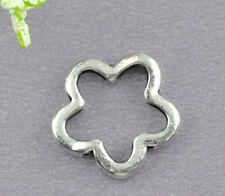 50 Antik Silber Blumen Rahmen Metallperlen Beads 16mm JO