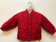 Polo Jeans Raph Laurenl Boy Zip-up Quilt Jacket Lined Red Size 6-9 Months
