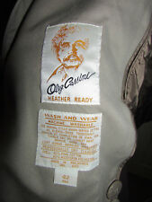 OLEG CASSINI TRENCH COAT 42R thermolite zipout lining Double breasted Cape CLEAN