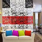 8Pcs Butterfly Flower Hanging Screen Curtain Room Divider Partition Wall Home