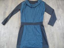 SANDWICH chices Kleid im Materialmix blau grau Gr. 40 TOP  518