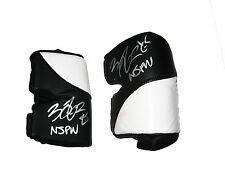 WWE NXT FINN BALOR RING WORN HAND SIGNED BLK WHITE KNEEPADS W/ PIC PROOF AND COA