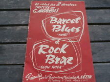 "RARE Partition G. ANDREOLI ""Barcet Blues Twist"" et ""Rock Braz"" 1962..A. Lézin"