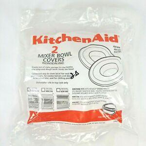 KitchenAid 2-Pack Bowl Covers KBC90N for K45 KSM90 KSM103 KSM110 KSM150 KSM152