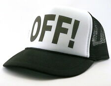 OFF! Trucker Hat mesh hat snap back hat black new adjustable chili peppers hat