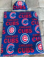 NEW Chicago Cubs MLB Fleece Newborn Infant Baby Receiving Blanket Hat Gift Set