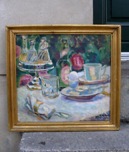 Gudmundsen-Holmgreen (1892) Breakfast Table In the Garden. Dated 1912.