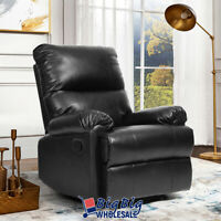 Contemporary Leather Recliner Chair Manual Couch Single Reclining Sofa Lounge
