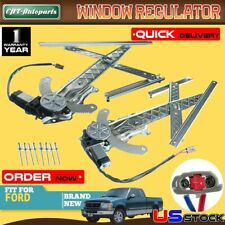 2x Power Window Regulator with Motor for Ford F-150 F-250 1997 1998 Front L & R