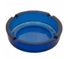 Blue Glass Ashtray - Home, office, work uses. Smokers ashtray - high quality
