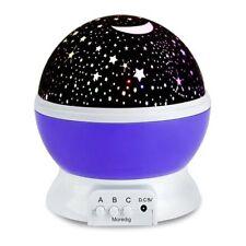 Romantic Constellation Night Light Projector Sky Moon Star Lamp Rotating Cosmos