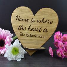 In legno a casa è dove il cuore è sign-REGALO PER LA NUOVA CASA D'INAUGURAZIONE