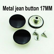 Metal Snap Buttons- Jeans & Clothing Metal Black Easy Fasten Buttons