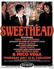 Sweethead 2010 Seattle Concert Tour Poster-Queens Of The Stone Age, Serrina Sims