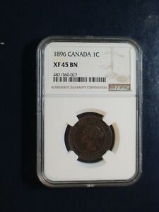 1896 Canada LARGE Cent NGC XF45 BN CIRCULATED 1C Coin BUY IT NOW!