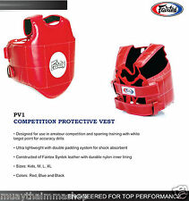 Fairtex Competition Protective Vest Boxing Gear Mmaequip 5Days made to order Pv1