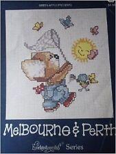 Melbourne y Perth Cuadro De Punto De Cruz Patrón Libro De Manzana Verde 534